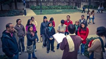 Sharing histories of the Ghadar Party at UC Berkeley (56-43) - credit Ravi Shankar